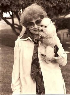 Lucille Ball and her poodle