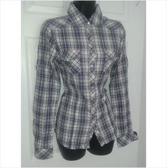 Designer SOULCAL Ladies Smart Casual Check Long Sleeve Blouse Top