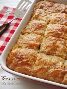La cuisine creative: Pita sa mesom – m – macedonian food Croatian Cuisine, European Dishes, Macedonian Food, Savory Pastry, Croatian Recipes, Bosnian Recipes, Best Food Ever, International Recipes, Dessert Recipes