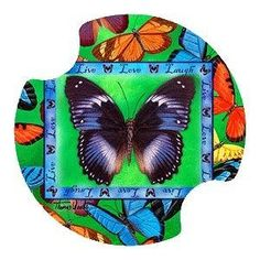 Butterflies Live-Love-Laugh Carsters - Coasters for Your Car by Thirstystone Resources, Inc.. $9.34. Two fingertip grips for easy removal from cup holder. Easy to clean and great for gift giving. Absorbent ceramic coasters will soak up drinks from cup holders. Fits cup holders in most cars, vans, SUV's, and trucks. Each package contains TWO carsters. Carsters are absorbent Coasters for your Car, SUV, Van, and truck, They are absorbent ceramic coasters that will soak up those...