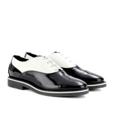 mytheresa.com - Leather and calf hair brogues - Luxury Fashion for Women / Designer clothing, shoes, bags