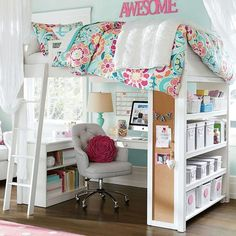 Teenage girl bedroom ideas should be different from a little girl's bedroom. Designs for teenage girls' bedrooms should reflect her maturing tastes and style with a youthful yet more sophisticated look and need to be very stylish, modern, fashionable and