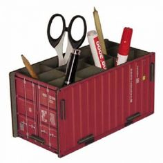 container pennenbeker, rood