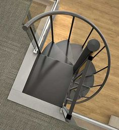 Metal Spiral Staircase Kit-The Otto Prefab Stair-DIY Indoor Escada em espiral de metal Kit-The Otto Prefab Stair-DIY Indoor Spiral Staircase Kits, Spiral Stairs Design, Loft Staircase, Staircase Makeover, Attic Stairs, House Stairs, Staircase Design, Staircase Ideas, Spiral Staircases