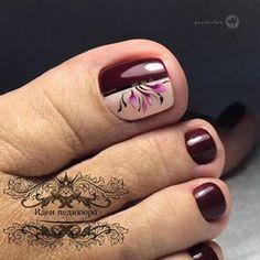 UV gel: the good tips for choosing it - My Nails Pedicure Nail Art, Pedicure Designs, Toe Nail Art, Pretty Toe Nails, Cute Toe Nails, My Nails, Summer Toe Nails, Party Nails, Toe Nail Designs
