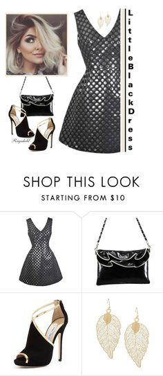 """Little Black Dress"" by ragnh-mjos ❤ liked on Polyvore featuring Jimmy Choo"