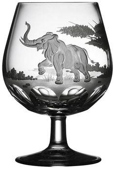 Safari Elephant Brandy Snifter