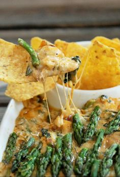Cheesy Spinach Asparagus Dip