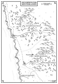 Neverwinter Hinterlands map by jonpintar Fantasy Map Making, Fantasy World Map, Lost Mines Of Phandelver, Map Sketch, Map Layout, Map Maker, Forgotten Realms, Dungeon Maps, D&d Dungeons And Dragons