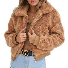 Autumn Winter Elegant Women Faux Fur Coat Thick Warm Soft Casual Loose Zipper Parka Lady Outerwear Overcoat Jacket Plus Size Damen Mantel Winter, Oversized Coat, Winter Fashion Outfits, Women's Fashion, Pullover, Sweatshirt, Jackets For Women, Faux Fur, Clothes