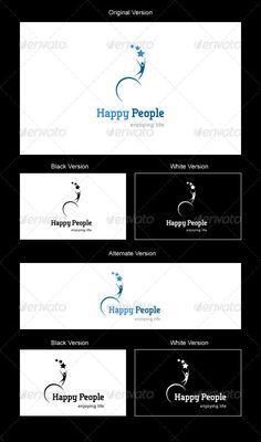 Happy People Logo Design Template Vector #logotype Download it here: http://graphicriver.net/item/happy-people-logo/2660055?s_rank=62?ref=nesto