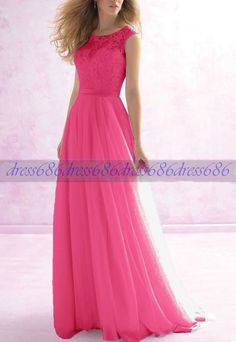 New Formal Lace Evening Ball Gown Party Prom Bridesmaid Dresses Stock Size 4b99730058a2