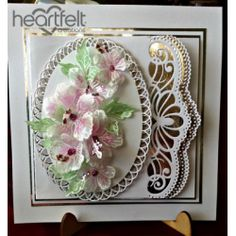 AbFab Designs, Heartfelt Creations, Card with flowers Heartfelt Creations Cards, Spellbinders Cards, Birthday Cards For Women, Embossed Cards, Marianne Design, Pretty Cards, Folded Cards, Anniversary Cards, Scrapbook Cards