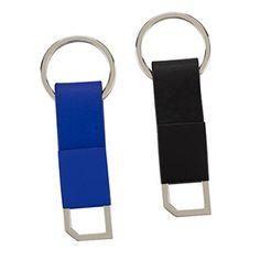 Llavero Metálico y Poliuretano. Tipo de Producto: IMPORTADO. Medidas: 7 cm largo x 2.3 cm ancho (No Incluye Herraje).  Área de Marca: 1.5 cm x 1 cm. Técnica de Marca: Láser / Yag. Colores Disponibles: Negro y Azul.