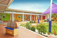 Vibrant choice of Resene colours at Mother Duck Childcare