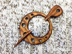 "Заколка ""Кольцо"" - krapiva.su  Фибула, wood, laser cut, fibula Wooden shawl pin, Shawl stick, Sweater clasp, Pullover pin, Scarf pin, Hair stick, Eco"