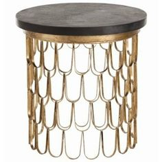 Orleans End Table - Gold Leaf - Arteriors Home | Clayton Gray Home