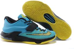 watch 24c86 7c96a Nike KD VII 7 Black Blue Yellow Kevin Durant Shoes, Kevin Durant 7, Jordan