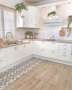"""Modern Kitchen Design Ideas,Amazing Kitchen Decor Ideas We love the delicate tones of this pretty kitchen, do you? 😍⠀⠀⠀⠀⠀⠀⠀⠀⠀ 🛍 Get inspired by our sale """"A trendy cuisine"""" by cli. Home Decor Kitchen, Kitchen Design Small, Kitchen Remodel, Kitchen Decor, House Interior, Home Decor Store, Home Kitchens, Modern Kitchen Design, Kitchen Design"""