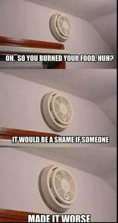 26 Best Smoke Alarm Humor Images Smoke Alarms Humor Bones Funny