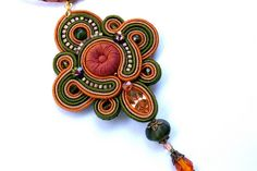 Soutache Pendant by BeadsRainbow, via Flickr