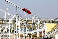 Forumla Rossa: The fastest Roller Coaster in the WORLD! Located at Ferrari World Theme Park in Abu Dhabi, United Arab Emirates Ferrari World Abu Dhabi, Fastest Roller Coaster, Solo Travel Tips, Cool Themes, United Arab Emirates, Places To See, Around The Worlds, Adventure, Roller Coasters