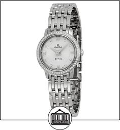 a885bdcfcf6 Omega DeVille Prestige Silver Diamond Dial Stainless Steel Ladies Watch --  Details can be found by clicking on the image.