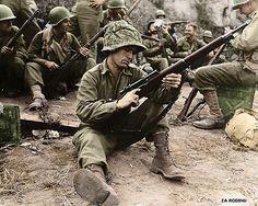 U.S. Army sniper Edward J. Foley of Methuen, Massachusetts - Italy 1944.