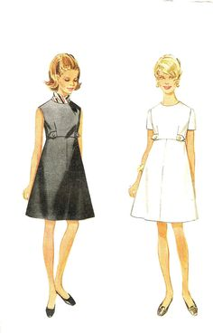 Butterick 4997 Sewing Pattern Vintage 60s Dress by PeoplePackages