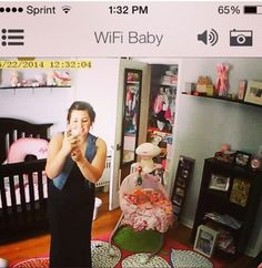 WiFi Baby mom got a view of herself on our app. Thanks Janet! Share your screenshots with #mywifibaby #bestbabymonitor #nannycam