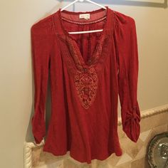 Blouse Amazing color and great for work! Fits like a S Anthropologie Tops Blouses