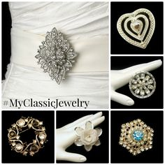 """Find your """"something old"""" with a beautiful #vintage brooch! #MyClassicJewelry #Bridal  http://stores.ebay.com/My-Classic-Jewelry-Shop"""