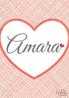"""Amara: Meaning, origin, and popularity of the name. Amara is a beautiful name that found its way on this list because of its similarity to the word """"amor"""" (we had to cheat just a little). In the Nigerian language Igbo, Amara means grace, making this a near-virtue name with a proud heritage."""