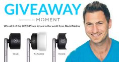 Win all 3 of the world's BEST iPhone lenses from @davidmolnar including @Moment's new MACRO lens.