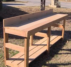 New 8 ft Cedar Potting Bench Gardening Planter Benches | eBay (we could paint it to match the metal siding) I like this one from ebay because it is so simple. seems the seller makes them.