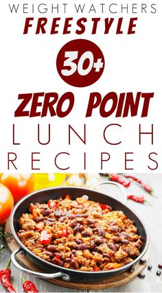 Here are over 30 Weight Watchers Freestyle Zero Point Lunch Recipes perfect for on-the-go lunches. Many of these healthy recipes freeze well and can go from freezer to microwave in minutes. Some recipes include: Corn Lentil Chowder, Spicy Beans Weight Watchers Snacks, Weight Watcher Dinners, Plan Weight Watchers, Weigh Watchers, Weight Loss, Weight Watchers Freezer Meals, Lose Weight, Weight Watcher Breakfast, Lunches
