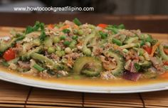 filipino food ampalaya at dangit recipe dried rabbit fish callos tripe and sausage with chickpeas filipino recipe howtocookgreat youtube forumfinder Gallery