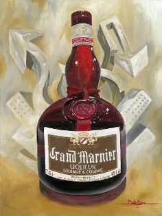 Oil on Canvas, Taste of Class by Dustin Bogue Alcohol, painting, oil, Grand Marnier, Seattle,