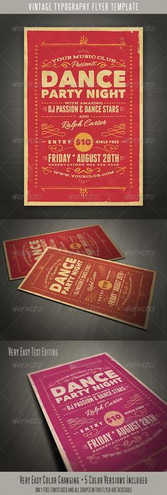 Vintage Style Typography Flyer - http://graphicriver.net/item/vintage-style-typography-flyer-/5246393?ref=cruzine