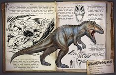 ark survival dino- over powered. This will kill almost anything Dinosaur Photo, Dinosaur Pictures, Dinosaur Art, Prehistoric Creatures, Mythical Creatures, Game Ark Survival Evolved, Cool Dinosaurs, Survival Books, Creature Design