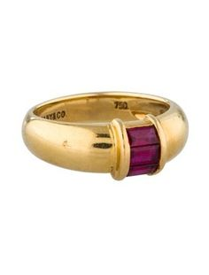 Tiffany &co Gold ring with RUBY. Get the lowest price on Tiffany &co Gold ring with RUBY and other fabulous designer clothing and accessories! Shop Tradesy now