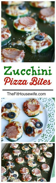 Zucchini Pizza Bites. A healthy and delicious recipe to get your kids to eat more veggies! Low carb. 21 Day Fix Approved.
