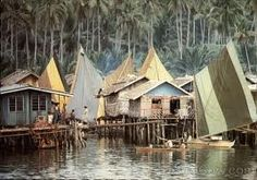 badjao village Filipino Architecture, Bamboo House, Fantasy Setting, Fantasy Rpg, Borneo, Pinoy, Sailing, Asia, Ocean