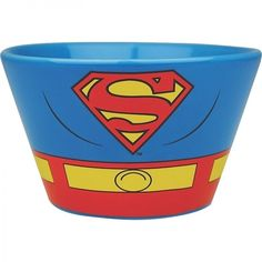 Cassic Superman Costume Bowl Ceramic Cereal Soup Sweets Bowl Christmas Gift #DCComincsOfficiallyLicensed #BatmanThemed  #Classic #Superman #CostumeBowl #Ceramic #Cereal #Soup #Sweets #Bowl #Christmas #DCCOMICS #Gift