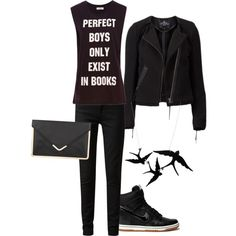 the perfect dauntless outfit to wear to the midnight premiere of divergent