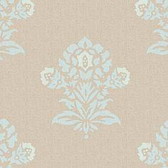 Aqua/Putty Jaipur Fabric by the Yard | Serena & Lily