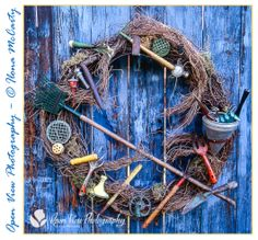My garden wreath. [The Cottage years] Photo by Ilona McCarty Open View Photography