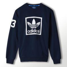 adidas 3-Stripes Trefoil Crew Sweatshirt | adidas UK