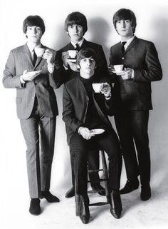 The Beatles Drinking Tea - kind of defines Britain...