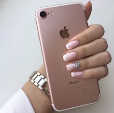 Nails Acrylic Short Winter 2019 56 Ideas Nails Acrylic Short Winter 2019 56 Id. Classy Nails, Fancy Nails, Trendy Nails, Pink Nails, Cute Nails, Nail Tip Designs, Nails Design, French Tip Nails, Short French Nails